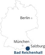 Karte Deutschland Marker Bad Reichenhall