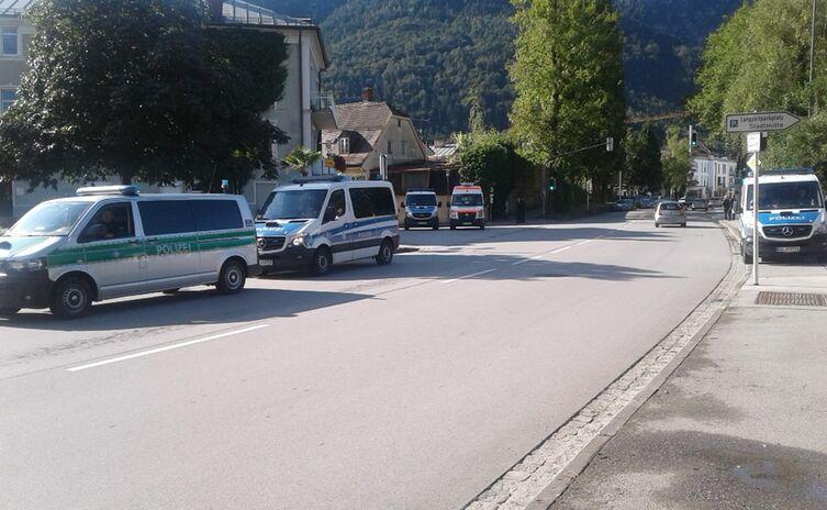 Suche nach Kampfmitteln im Gleisbereich in der Innenstadt von Bad Reichenhall