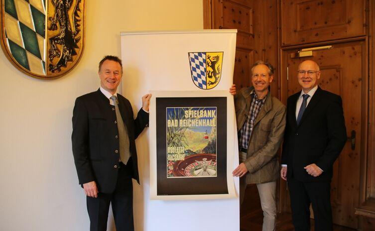 Leader Foerderung Und Historisches Werbeplakat Fuer Das Bad Reichenhaller Stadtmuseum