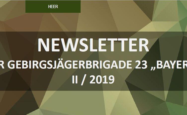 Newsletter Gebirgsjägerbrigade 23